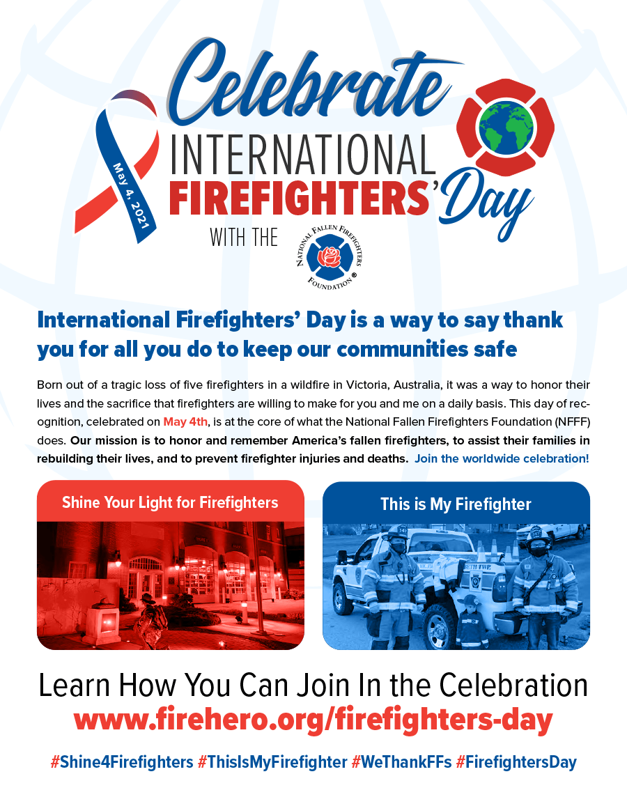 International Firefighters' Day 2021 Flyer